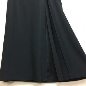ANNA MOLINARI Black slit acetate skirt SZ 42